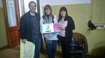 Hno. Víctor Hirch svd; Edith Fernández (Directora Nivel Secundario); Norma Ruiz (Pte. Consejo de la Mujer-Alte. Brown)
