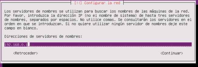 ubuntu server 16.04.1 LTS DNS