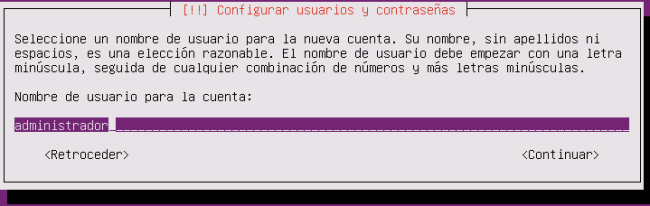 ubuntu server 16.04.1 LTS usuario