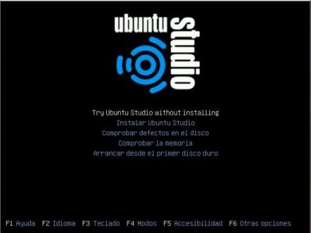Ubuntu Studio 18.04 inicio instalación
