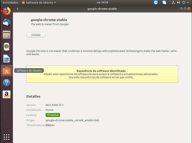 instalar chrome en ubuntu instalación