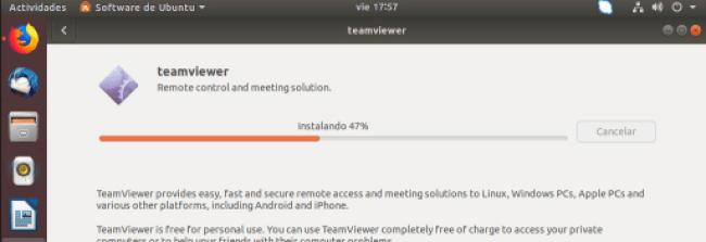 instalar teamviewer en ubuntu barra de progreso