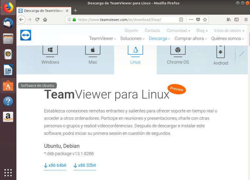 instalar teamviewer en ubuntu descarga