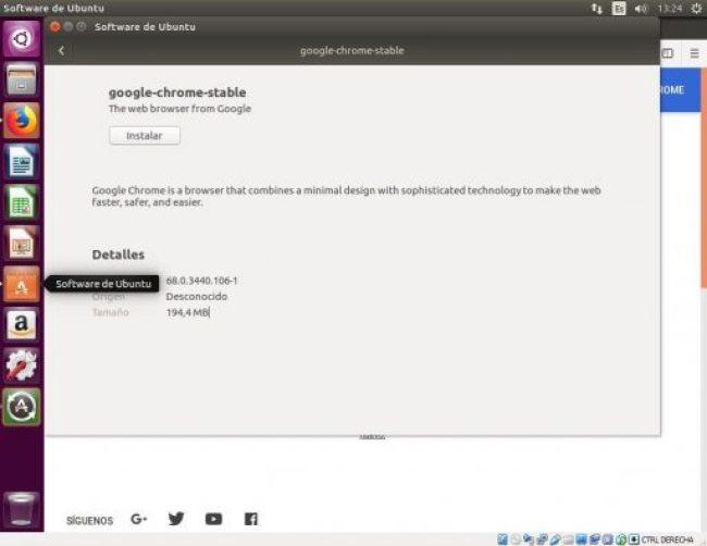 INSTALAR GOOGLE CHROME UBUNTU 16.04 software de ubuntu