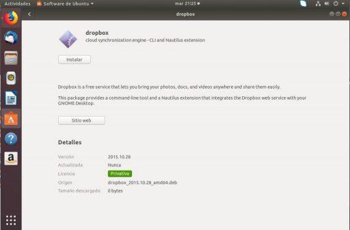 instalar dropbox en ubuntu 18.04 instalación