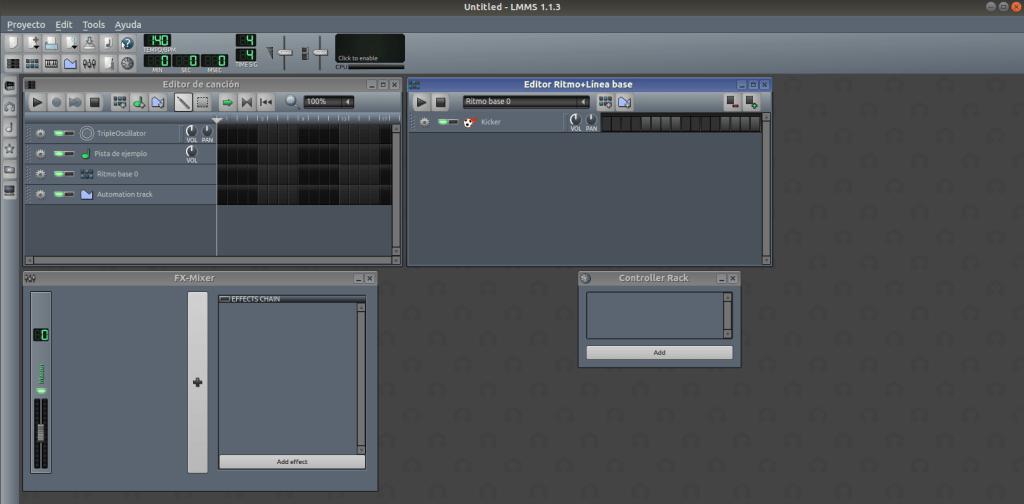 instalar lmms en ubuntu 18.04 INTERFAZ GRÁFICA