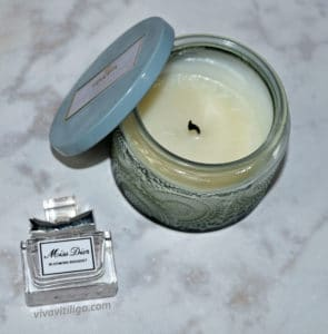 Picture of Miss Dior Blooming Bouquet Perfume and Volupsa French Cade Lavender Candle