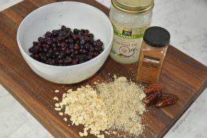Picture of no sugar added organic blueberry crisp recipe