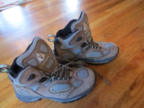 Women's Vasque Hiking Boots, Size 8.5. Lonny got them for me, used. That's great except I'm a size 9.