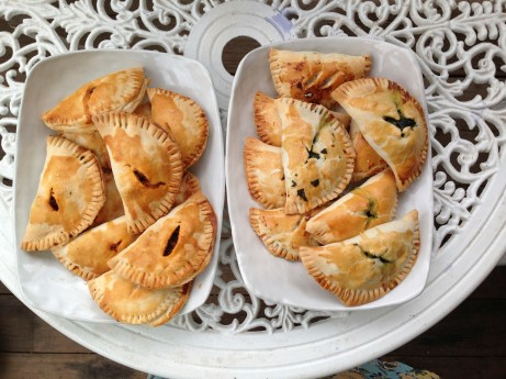A conversation with a MIchiganer got me craving little meat pies. Of course I had to make three versions. That was such a stupid, time consuming project but at least I could share them with our new neighbors.