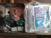 Our aquarium box. FREECYCLE.