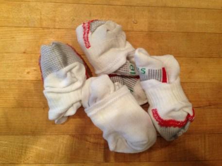 Tiny socks. EMILY.
