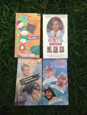 I stumbled upon VHS tapes.