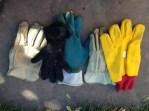 Mismatched gloves.