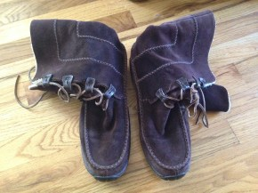 Cute Timberland mocs Lonny got for me (used, natch) but they are a little too big. eBay.