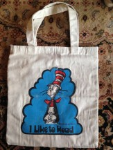 The dopest Dr. Seuss book bag which is completely lost/wasted on my kids. eBay.