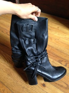 Franko Sarto boots, the reason I unsubscribed from all internet flash sale sites. They are uncomfortable and heavy. eBay.