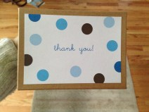 """Thank you cards I bought after Scrotus was born. There are 23 left and I'll never use them, they are too """"babyish"""". FREECYCLE."""