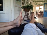Putting my feet up with Loony