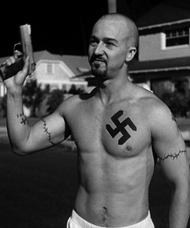 """Norton in """"American History X"""" Not my cup of tea."""