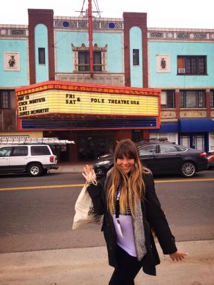 Maddie at the Oriental Theater in Denver