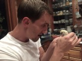 David met Radish, the chick