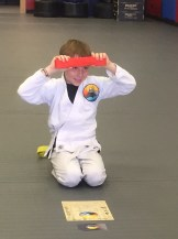 Scratchy earned his orange belt