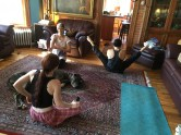 Planks, breath of fire and handstand to start the day