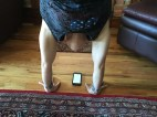 She holds her handstand for 60 seconds every morning
