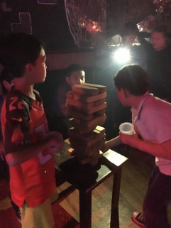 Jenga and Shirley Temples