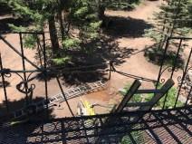 Broken guard rail repaired with rope, kinda