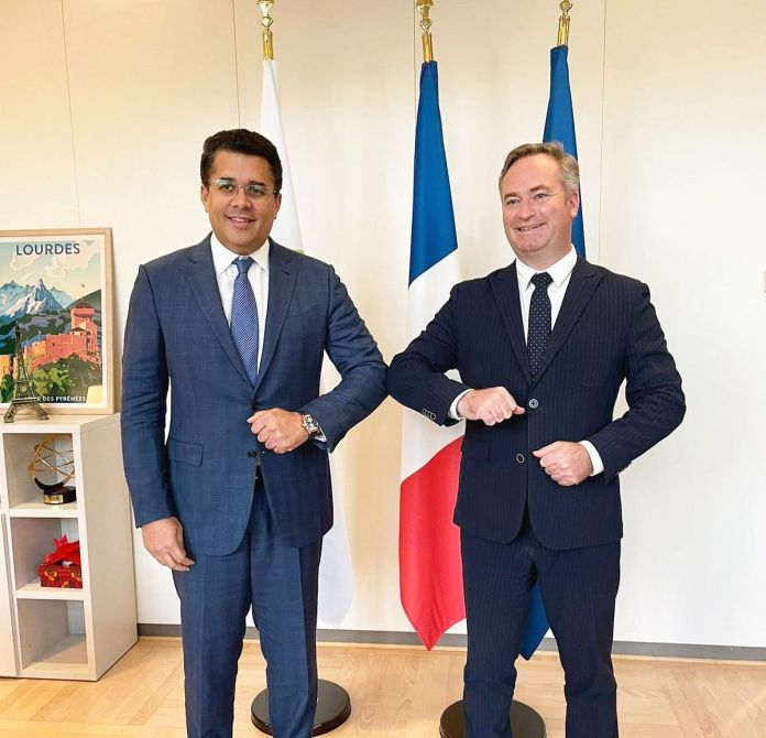 David Collado y Jean-Baptiste Lemoyne, titulares de turismo de Republica Dominicana y Francia