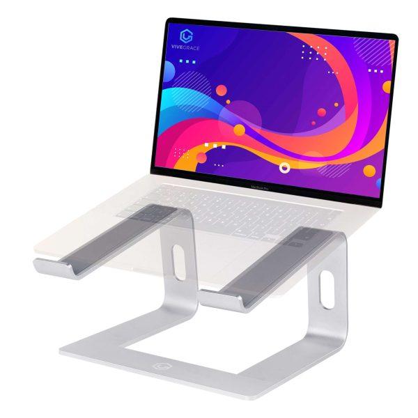 Vivegrace laptopstandaard zilver
