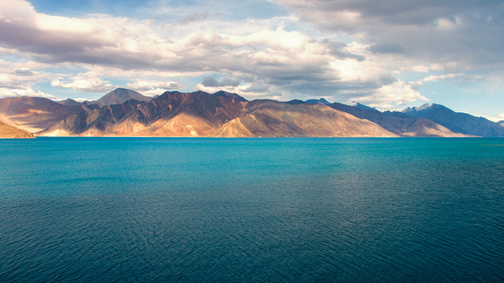 Pangong lake shot by filmmaker