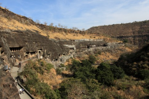 Ajanta Caves - A World Heritage site excavated between the 2nd century BC and 6th century AD are famous for Buddhist paintings