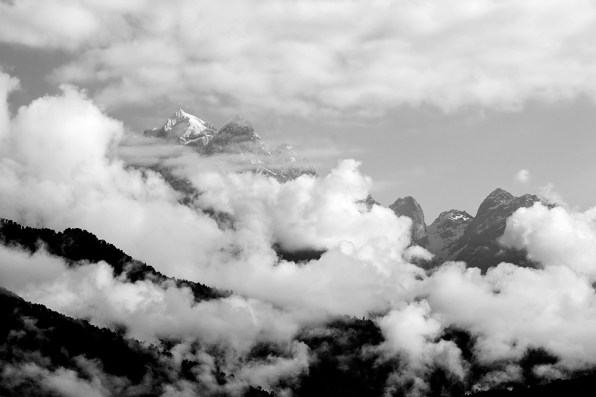 When the peaks are hidden...enjoy the clouds!