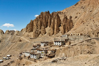 Kibber Village - Continuous erosion of the eco-system results in huge monoliths like structures