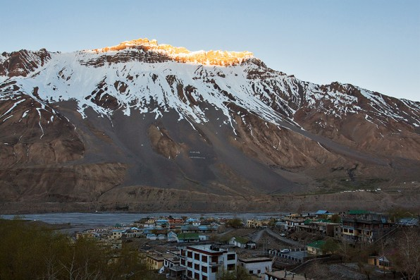 Sun rises over a sleepy Kaza