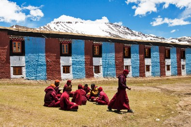 Monks prepare for lunch time