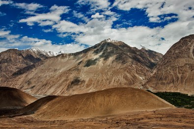 Nubra Valley terrain emerges