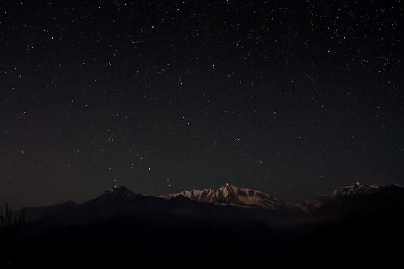 Stars shine over Maiktoli (6803m)