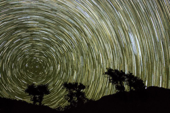 Startrails centred around North Star