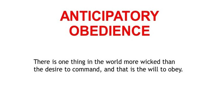 On Anticipatory Obedience