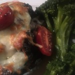 Champignons farcis à l'escargot en crème d'ail