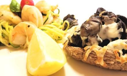 Escargots gratinés sur portobello