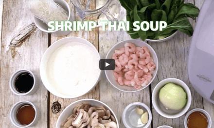 Soupe Thaï aux crevettes au Thermomix ® TM5