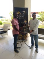 Cláudio Silva e o Chef Pedro Rezende Pereira