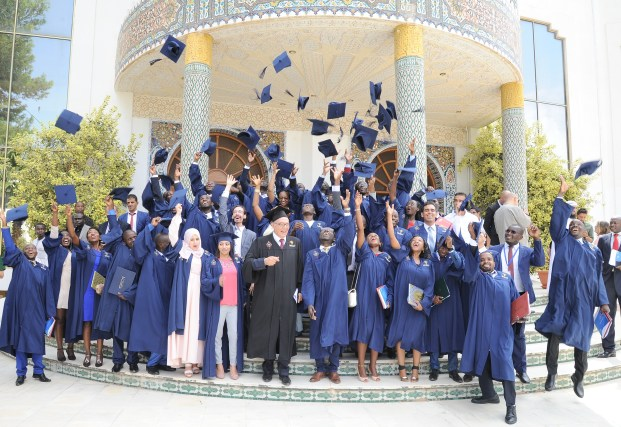 The PAUWES Class of 2017 celebrates at their graduation ceremony on 29 October 2017 at the Universit