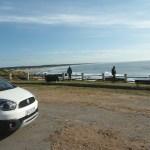 Vista da base do farol de La Pedrera, Uruguai