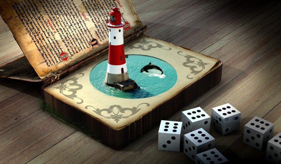 lighthouse, dolphin, dice-2387845.jpg